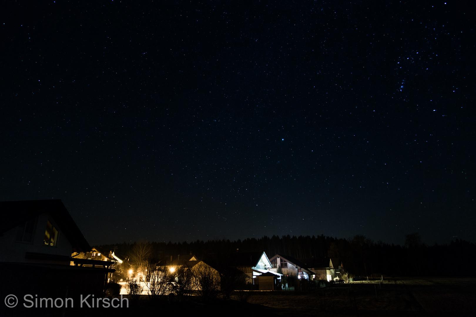 Nachthimmel über Oberpframmern