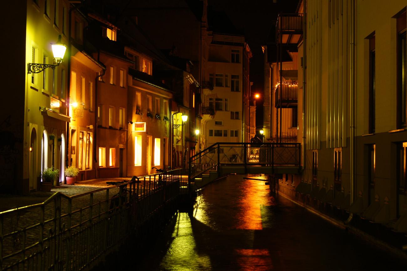 Nachtlichten in Freiburg.