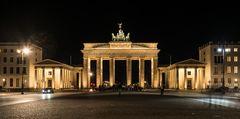 Nachts am Brandenburger Tor