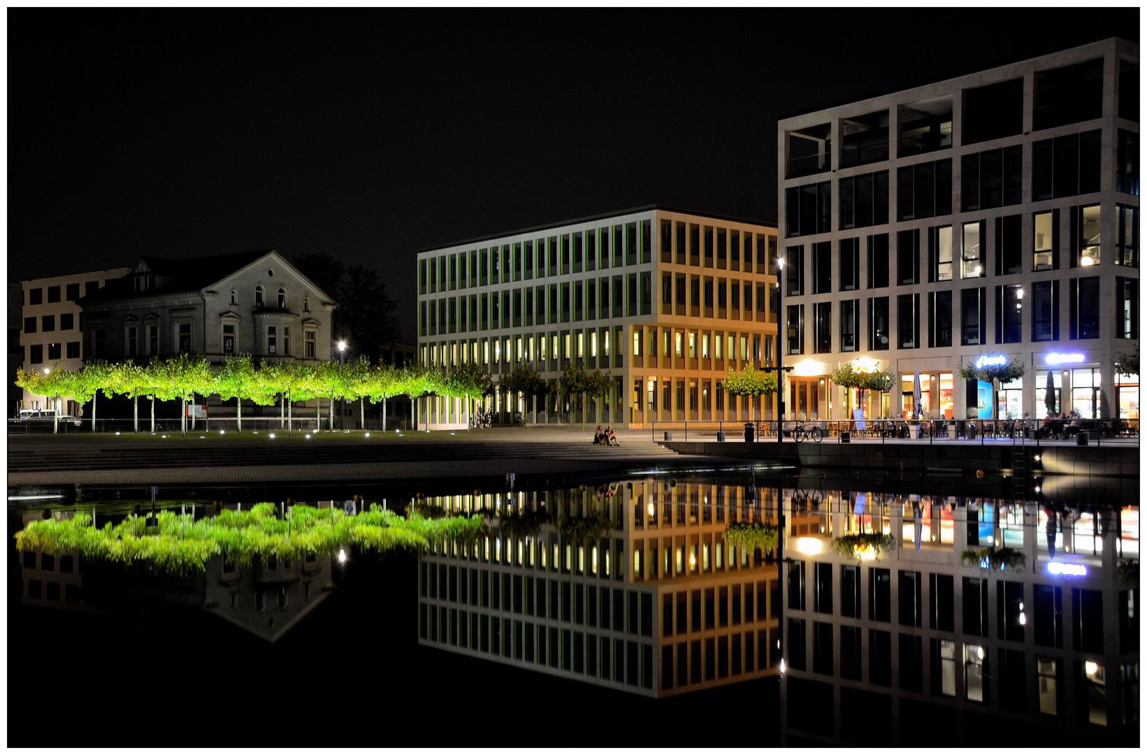nachts am Phoenix See, Dortmund (1)