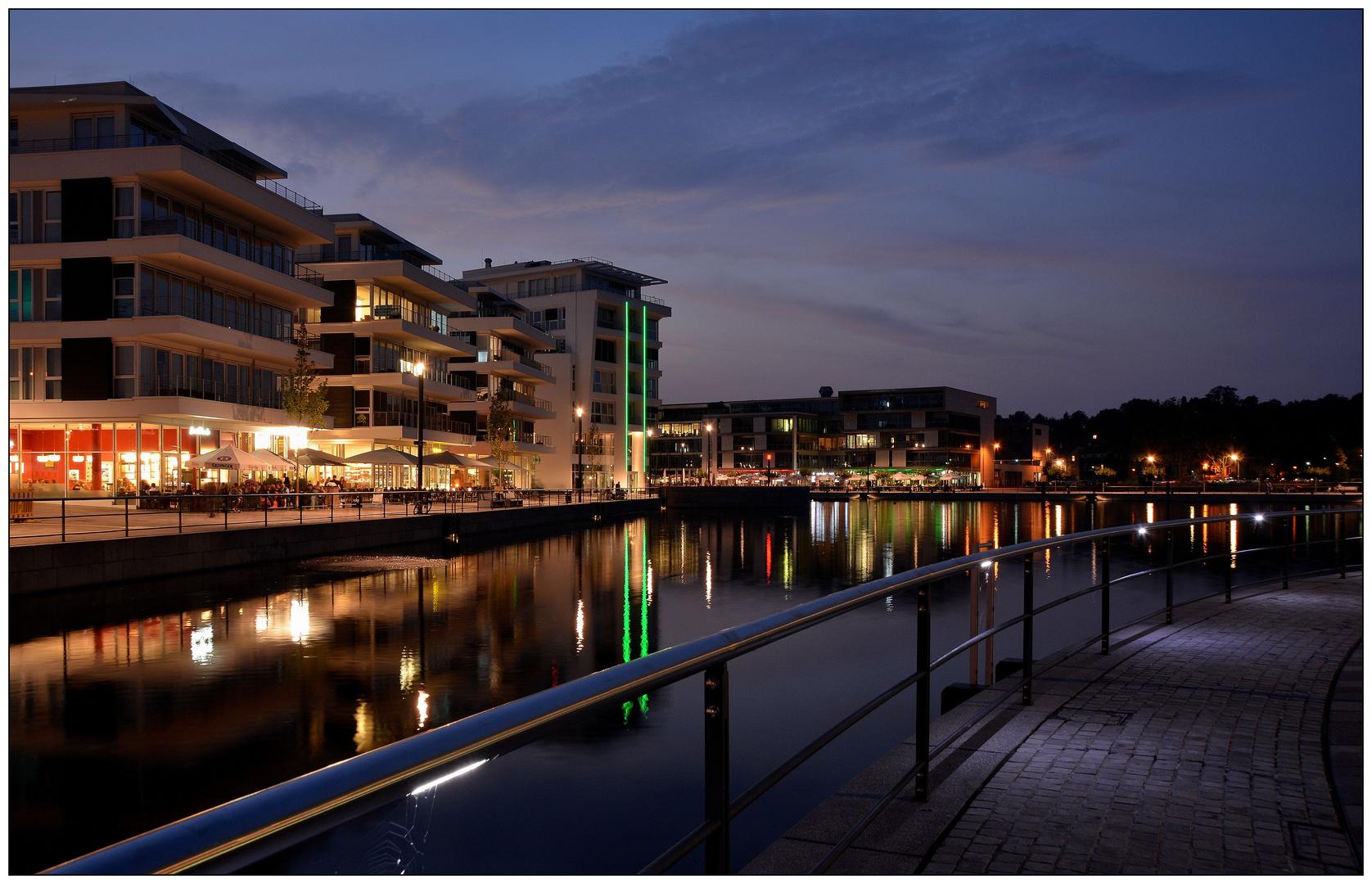nachts am Phoenix See, Dortmund (3)