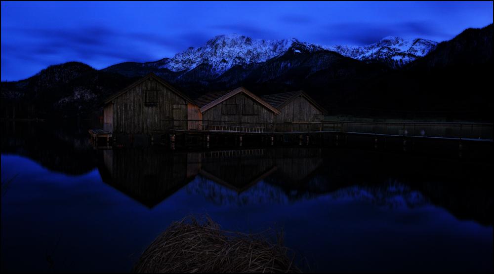 nachts am See