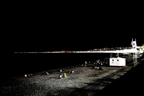 Nachts, am Strand
