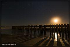 Nachts am Strand von Wangerooge 2