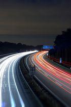 Nachts an der A115 bei Saarmund