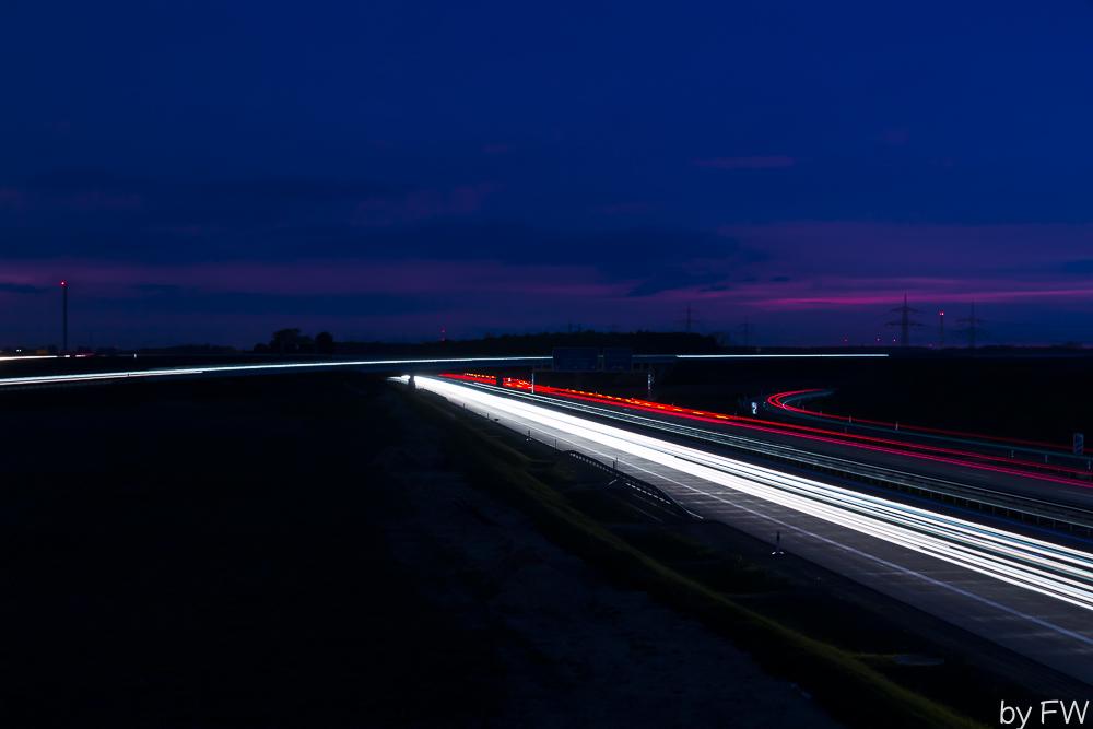 Nachts an der Autobahn 2