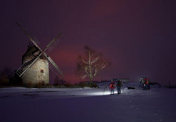 Nachts auf dem Acker.....