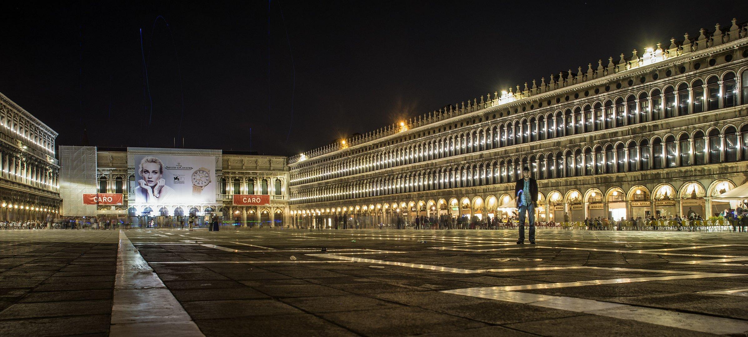 Nachts auf dem Markusplatz