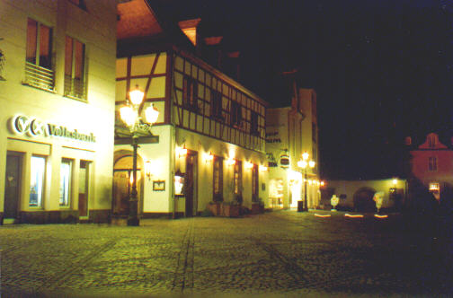 Nachts auf dem Platz...