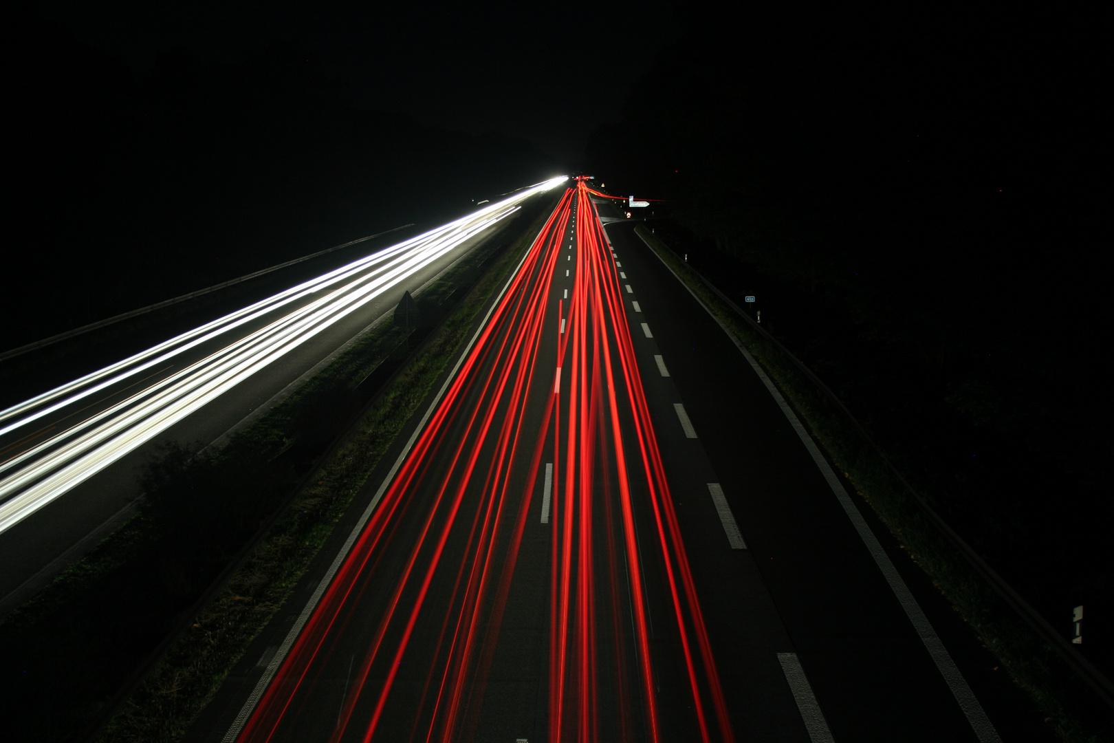 Nachts auf der A4