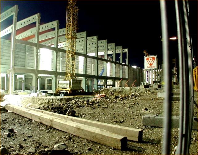 Nachts auf der Baustelle