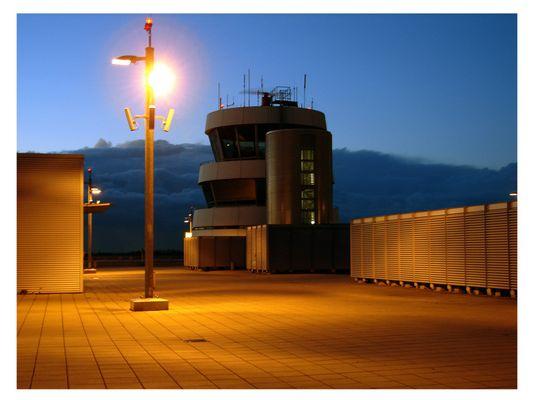 Nachts auf der Besucherterasse....