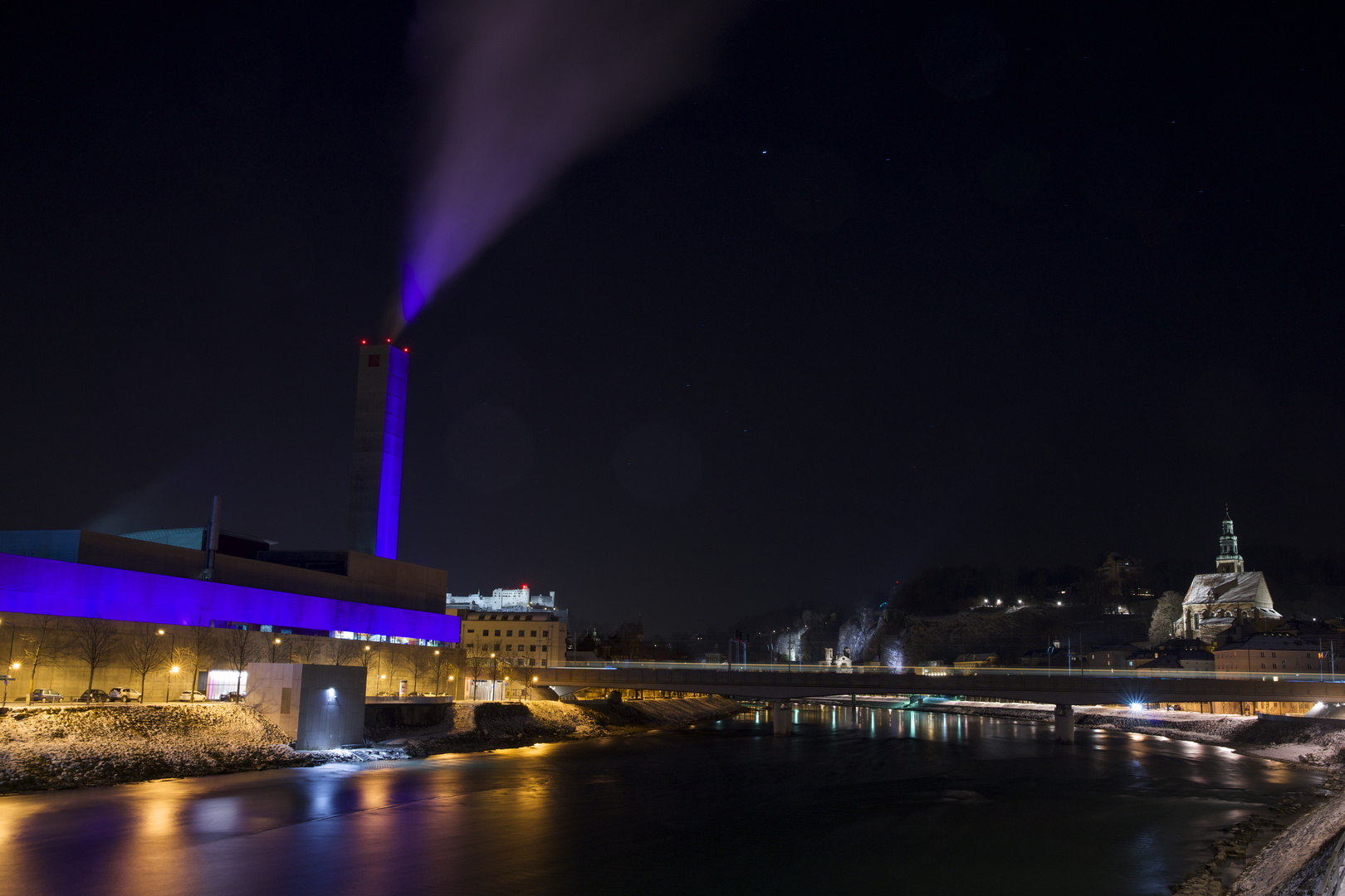 Nachts auf der Lehener Brücke