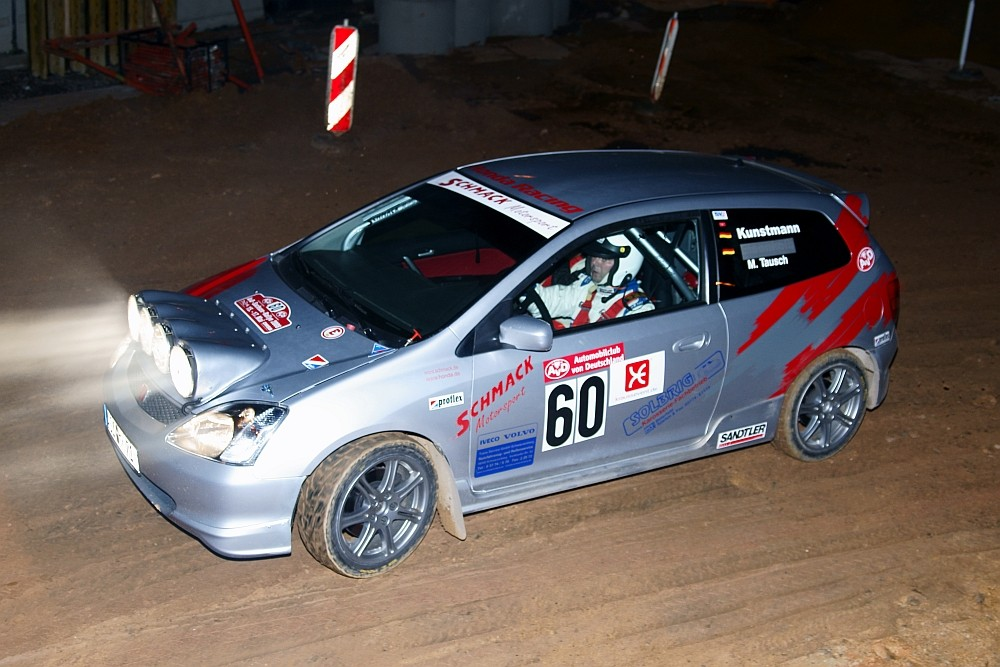 Nachts bei der AvD-Sachsen-Rallye