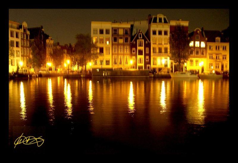 Nachts im schönen Amsterdam