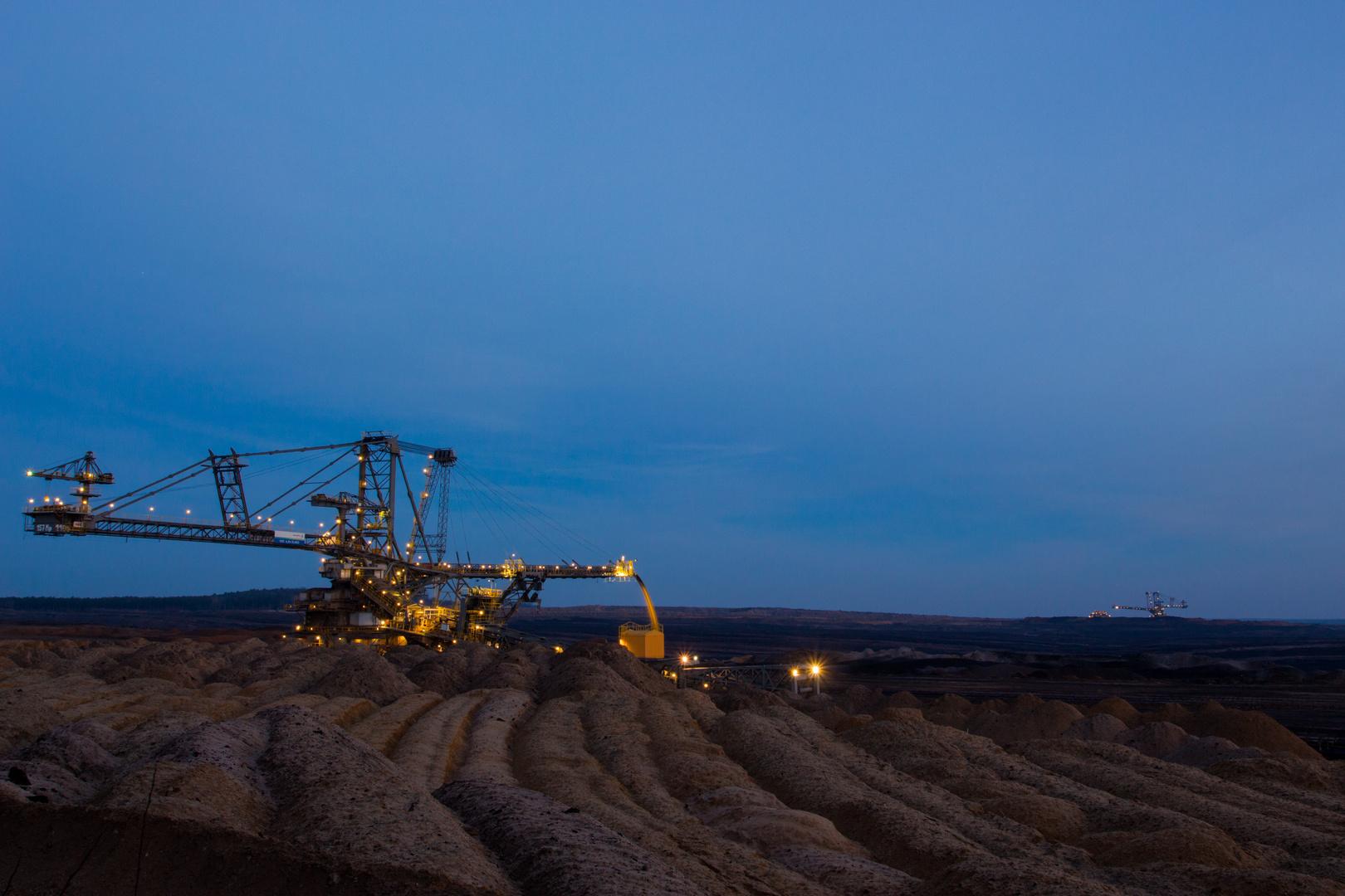nachts im Tagebau