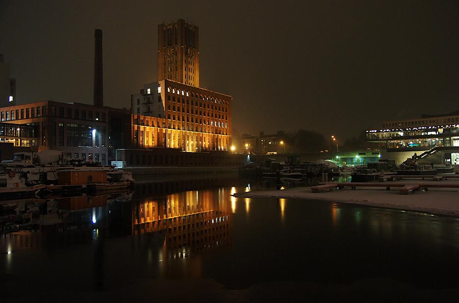 Nachts im Tempelhofer Hafen, 17.01.10 – 10