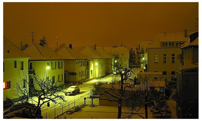 Nachts im Winter.