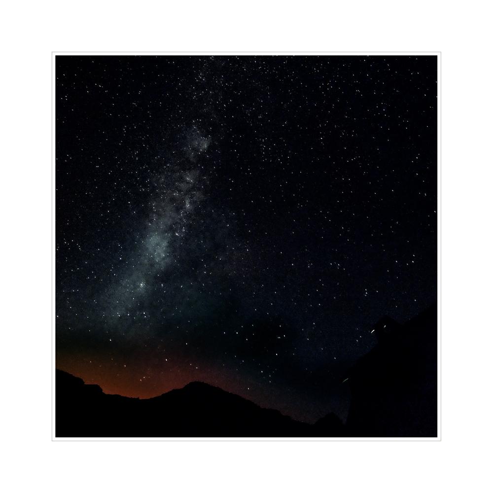 Nachts in den Cañadas  - Milchstrasse
