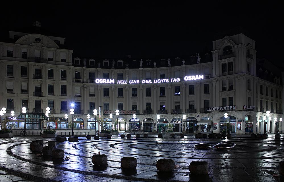 nachts in der großen Stadt