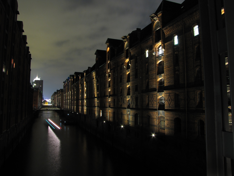 Nachts in der Speicherstadt