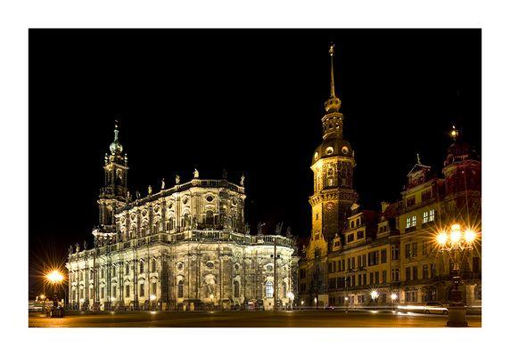 ... nachts in Dresden ...