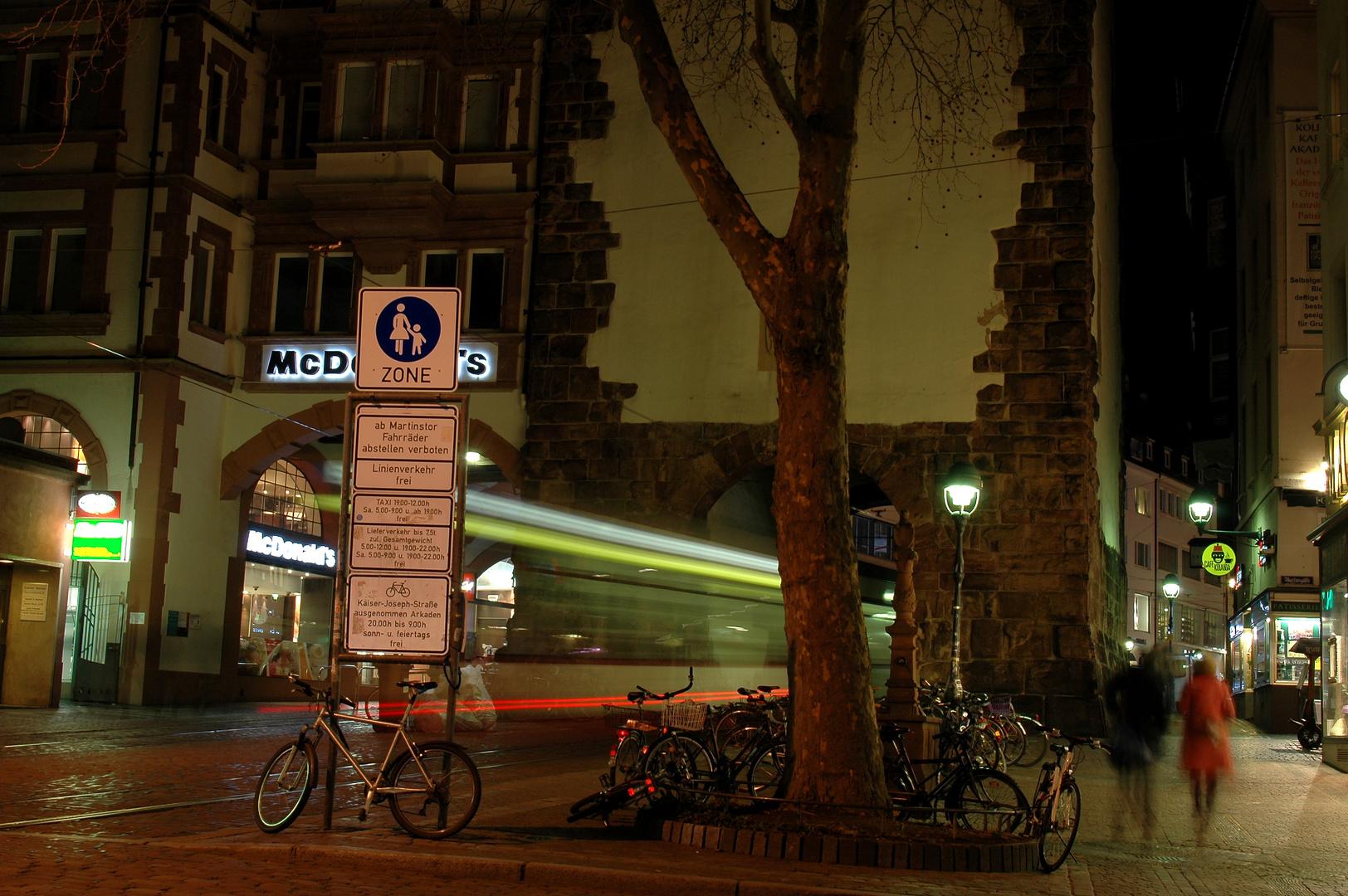 Nachts in Freiburg