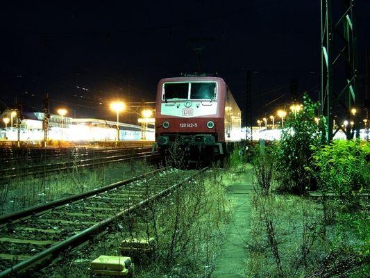 Nachts in Nürnberg Hauptbahnhof