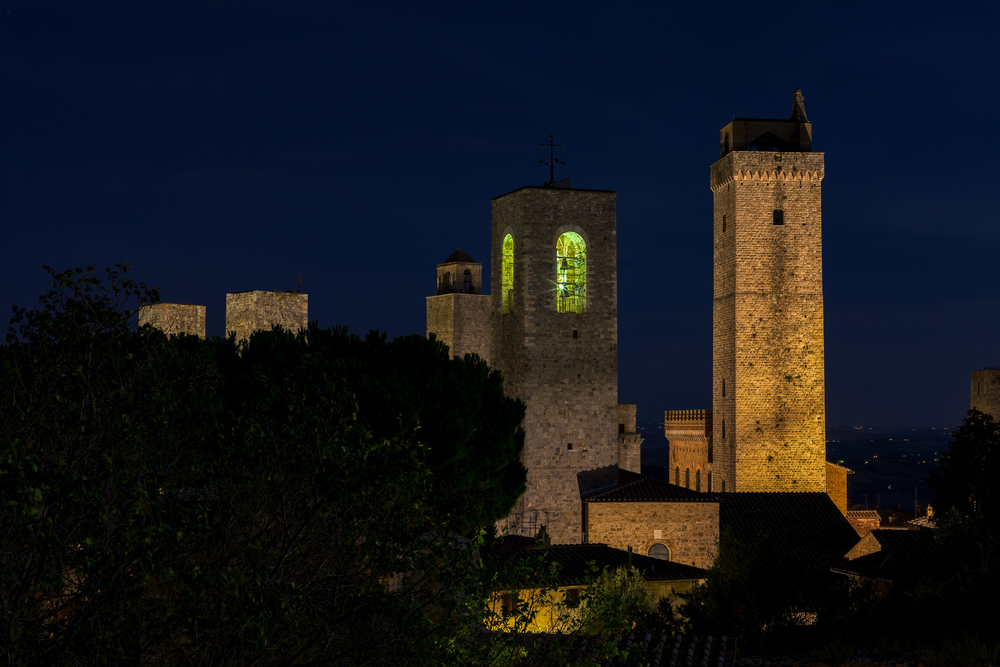 Nachts in San Gimignano
