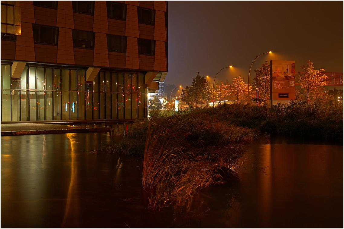 Nachts nahe dem Potsdamer Platz