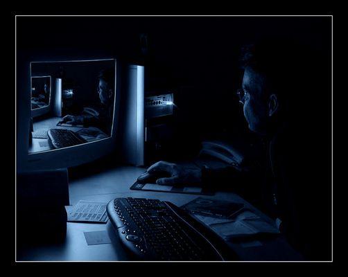 Nachts sind alle Rechner blau