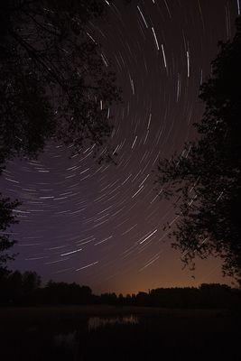 nachts über´m Teich
