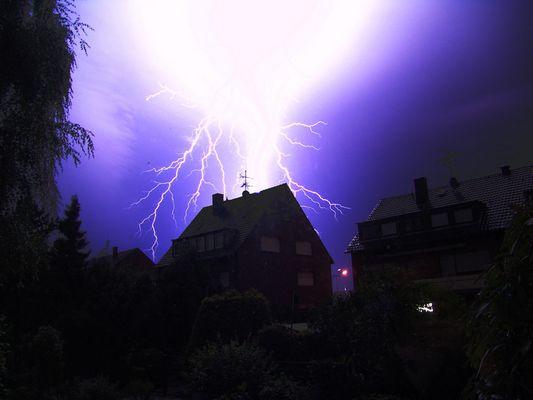 nachts vor meinem Küchenfenster...