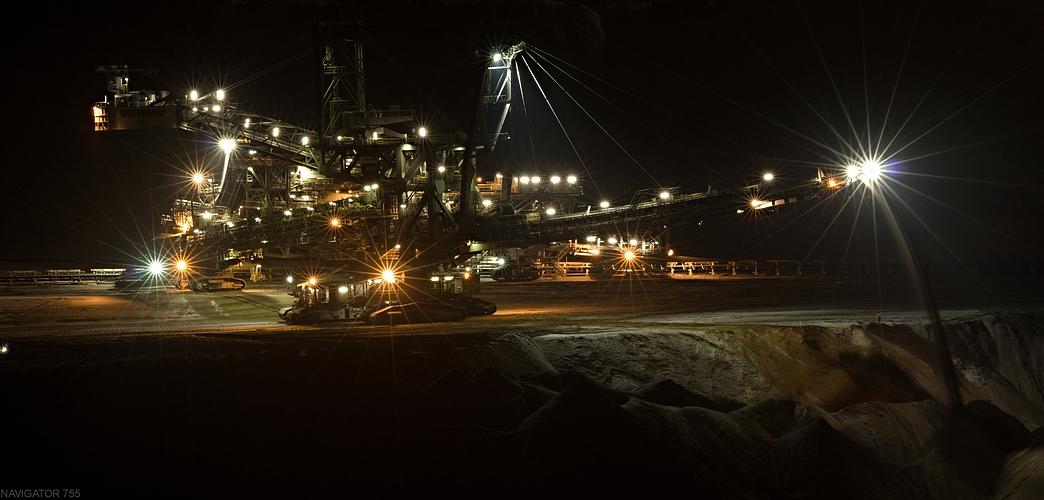 Nachtschicht im Tagebau!