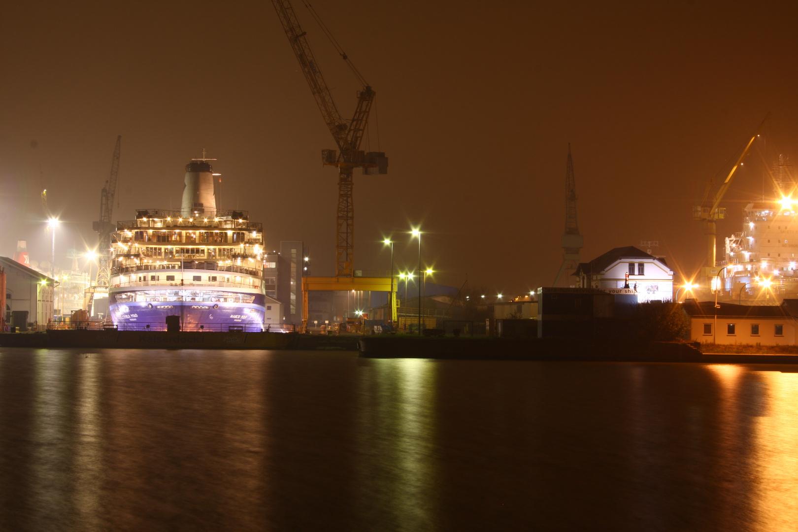 Nachtschicht in Bremerhaven.