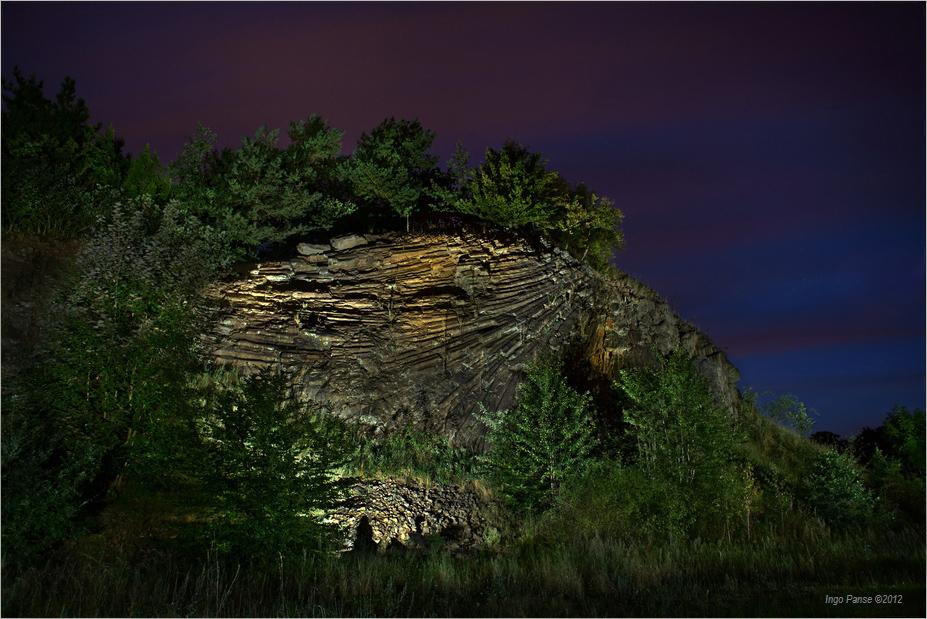 - Nachtschwärmer vor'm Lindenstumpf -