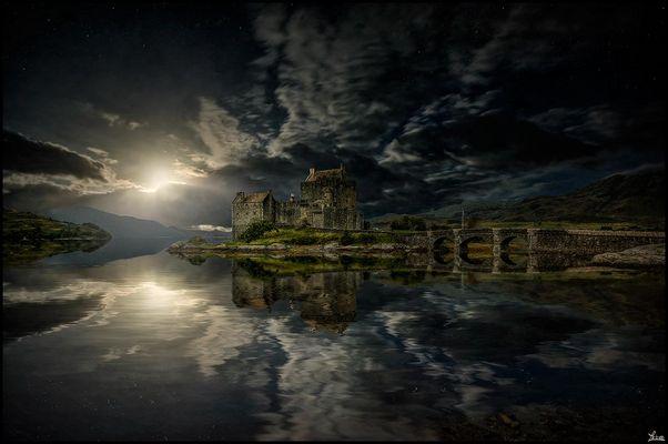 Nachtstimmung am Eilan Donan Castle