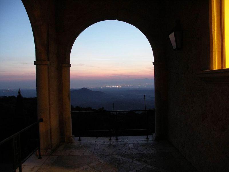 Nachtstimmung-Kloster Randa Mallorca