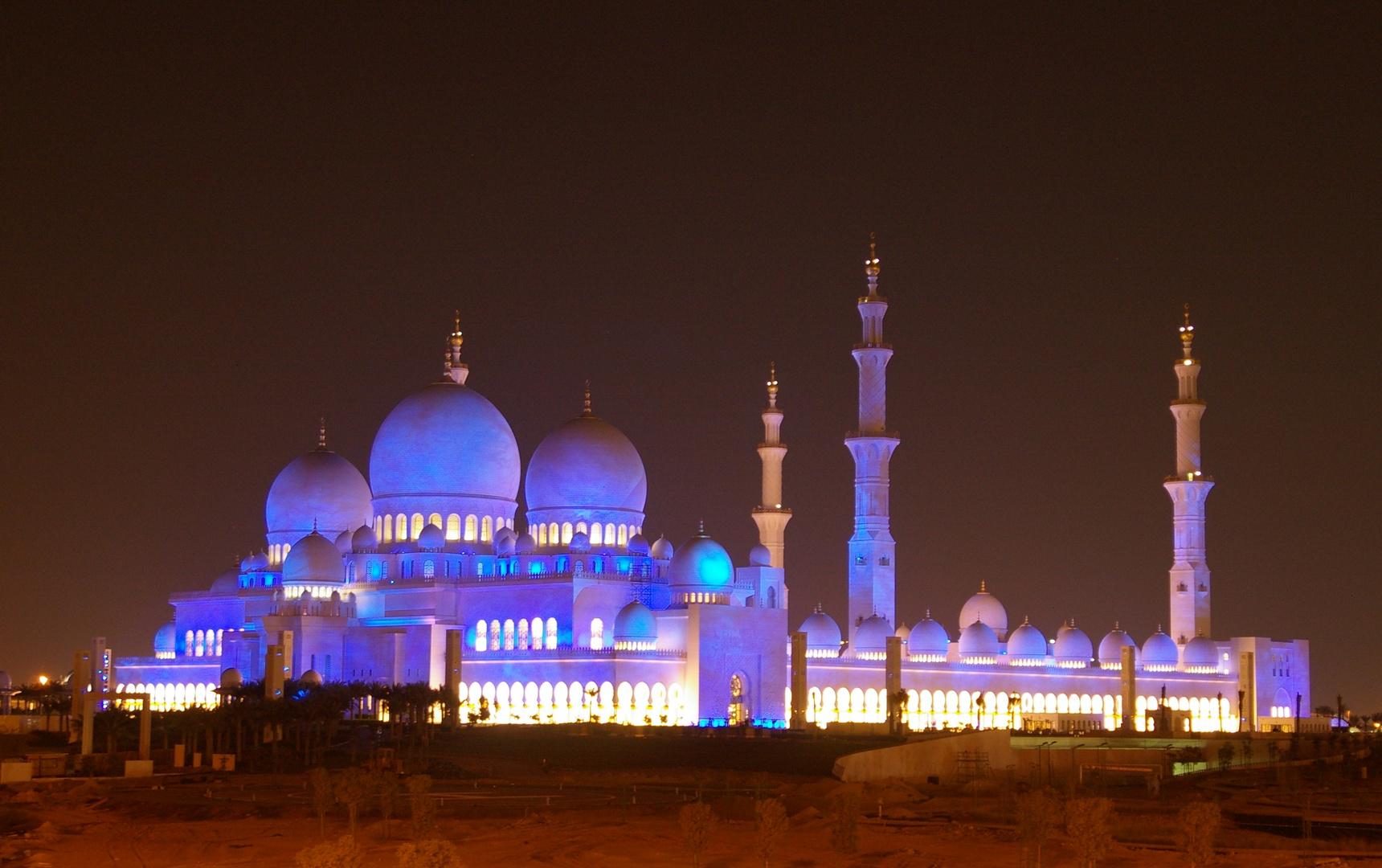 Nachtstimmung - Sheikh Zayed Mosque