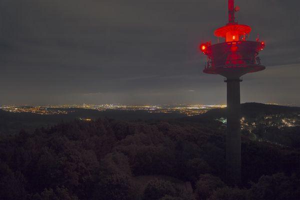 Nachtstimmung vom Atzelbergturm