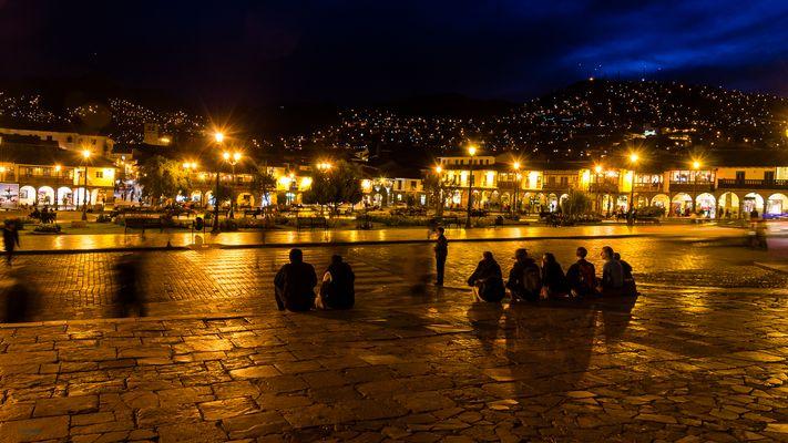 Nachtszene in Cusco