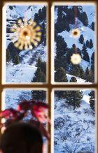 nachweihnachtlicher Blick aus der Hütte