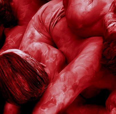 nackig und rot