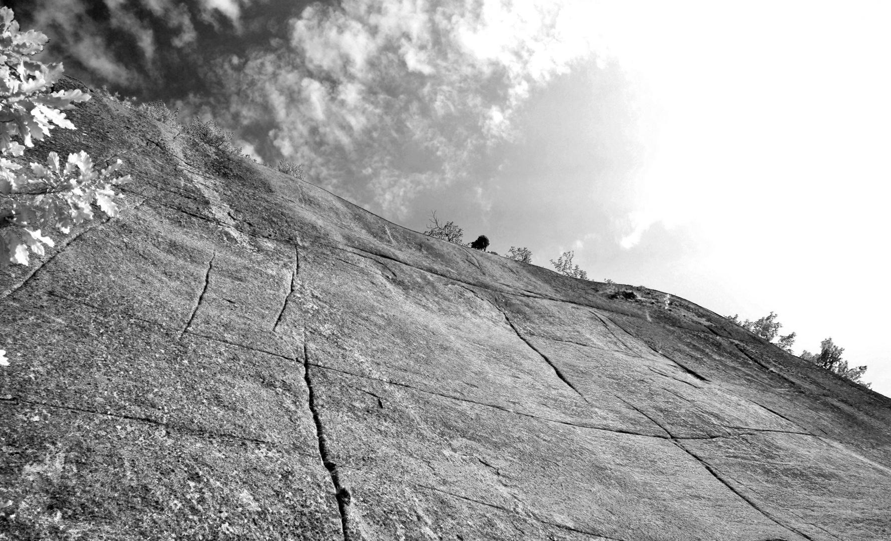 Nackter Fels, wohin man auch schaut