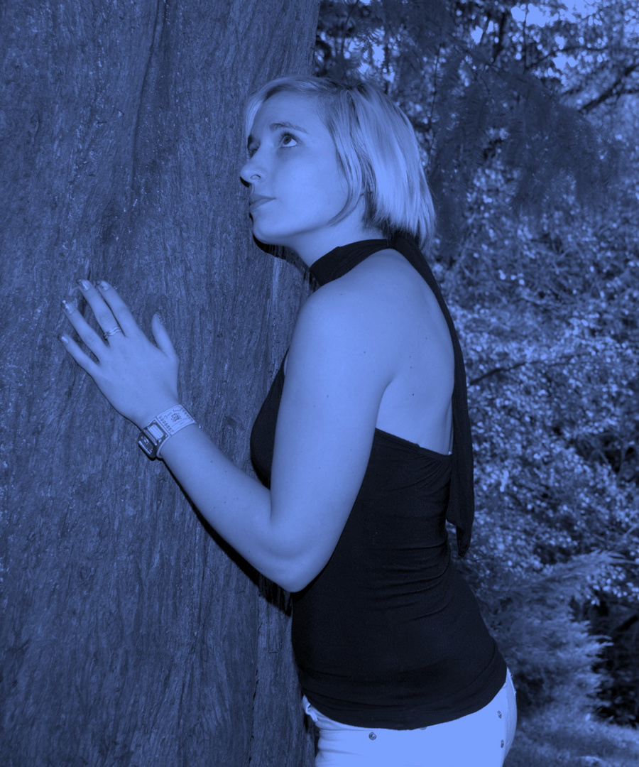Nadine im Shooting auf dem Lousberg