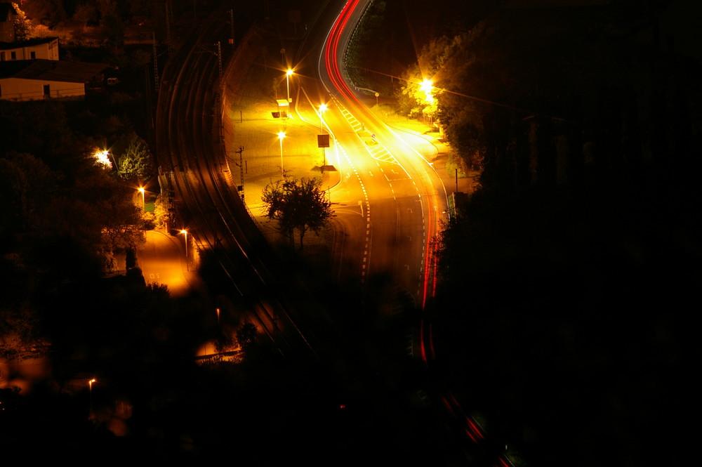 Nächtliche Verkehrswege