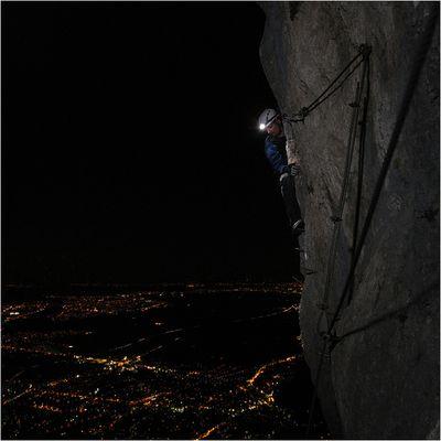 Nächtlicher Klettersteig