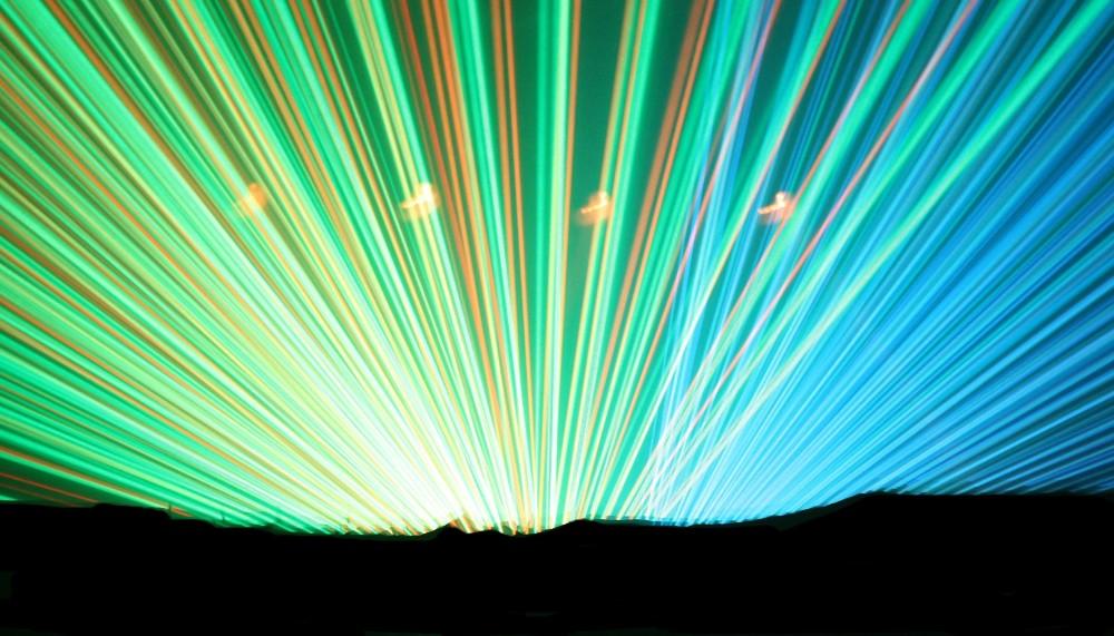 Nächtlicher Laseraufgang