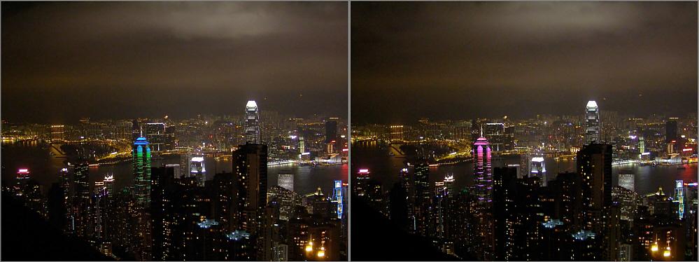Nächtliches Hongkong