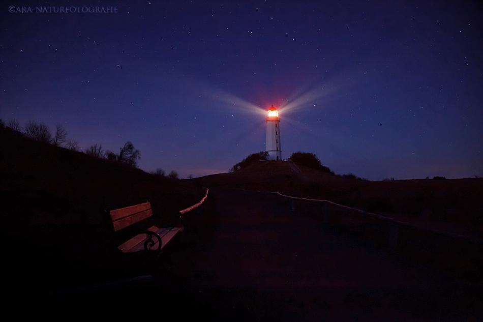 Nächtliches Leuchtfeuer - Der Dornbusch auf Hiddensee